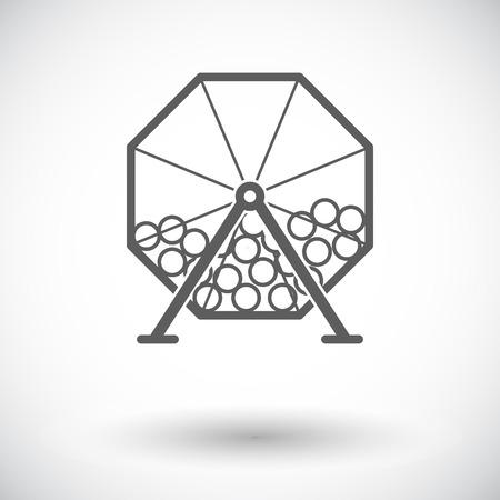 rueda de la fortuna: Loterías. Individual icono de plano sobre fondo blanco. Ilustración del vector. Vectores