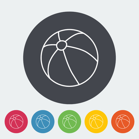 beachball: Beach ball icon. Thin line flat vector related icon for web and mobile applications. It can be used as - logo, pictogram, icon, infographic element. Vector Illustration. Illustration