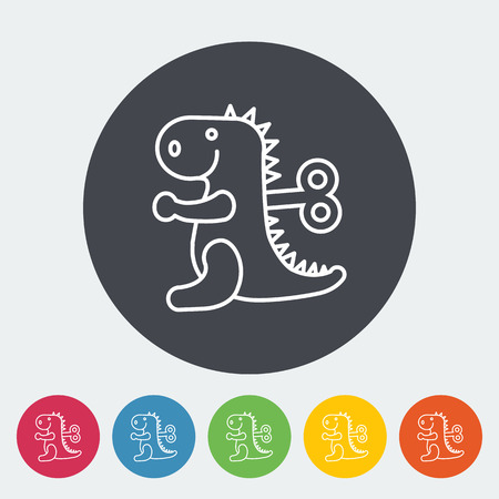 Dinosaurus icon. Thin line flat vector related icon for web and mobile applications. It can be used as - logo, pictogram, icon, infographic element. Vector Illustration. Illustration