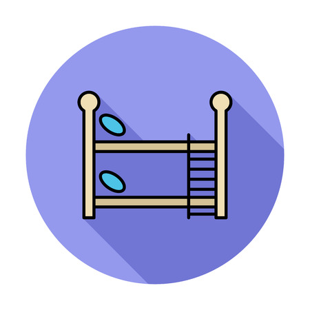 bunkbed: Bunk bed icon. Flat vector related icon whit long shadow for web and mobile applications. It can be used as - logo, pictogram, icon, infographic element. Vector Illustration. Illustration