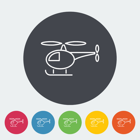transpozycji: Helicopter icon. Thin line flat vector related icon for web and mobile applications. It can be used as - logo, pictogram, icon, infographic element. Vector Illustration. Ilustracja