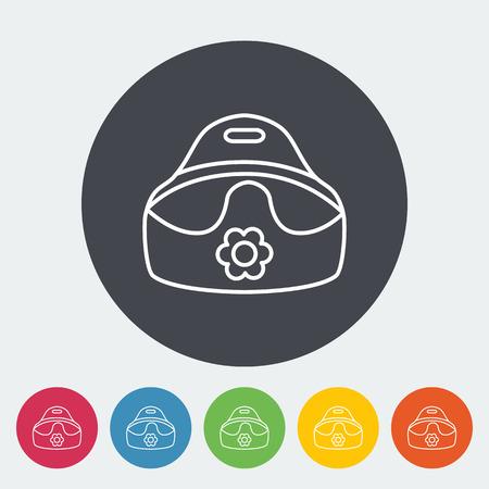 urinare: Icona vasino. Sottile linea piatta vettore icona correlata per il web e applicazioni mobili. Pu� essere utilizzato come - logo, pittogramma, icona, elemento infografica. Illustrazione vettoriale.