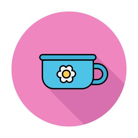 urinare: Icona Potty. Appartamento icone vettoriali relativi whit lunga ombra per il web e applicazioni mobili. Pu� essere usato come - logo, pittogramma, icona, elemento infografica. Illustrazione vettoriale. Vettoriali