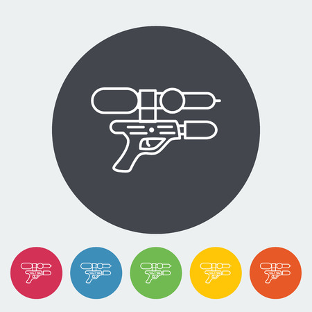 Gun toy icon. Thin line flat vector related icon for web and mobile applications. It can be used as - logo, pictogram, icon, infographic element. Vector Illustration. Illustration