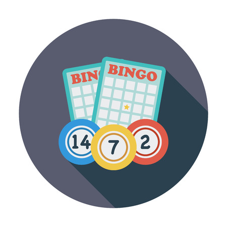Bingo Flat icon for mobile and web applications.  Illustration
