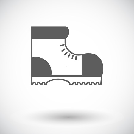 Hiking shoes. Single flat icon on white background.
