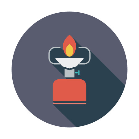 butane: Camping stove.  Illustration