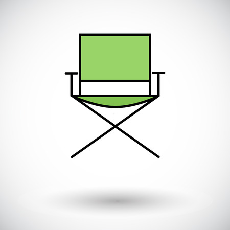 displaced: Camping chair Flat icon  Illustration