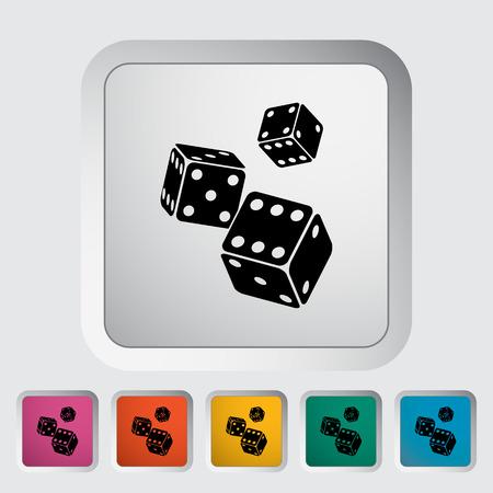 craps: Craps. Single flat icon on the button.