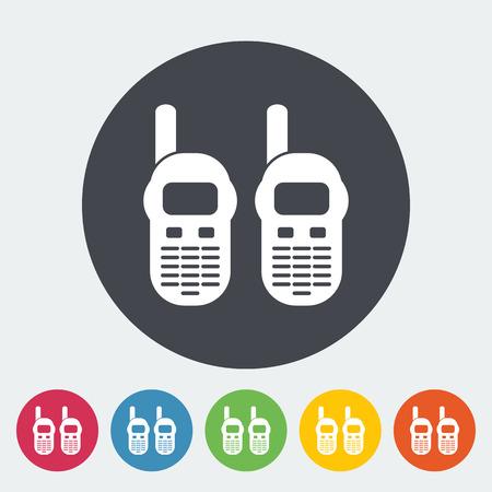 cb radio: Portable radio.