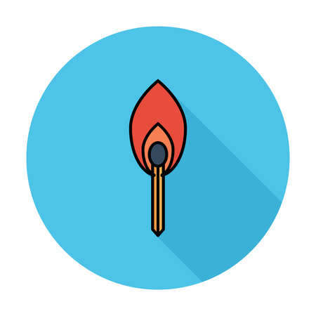 color match: Match Single flat color icon on the circle.