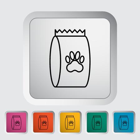 petshop: Pet food bag icon.