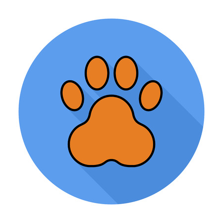 huellas de perro: La pata icono L�nea plana