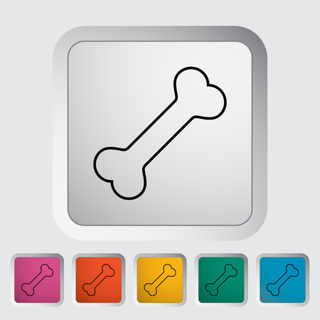 archaeology: Dog bone icon. Illustration