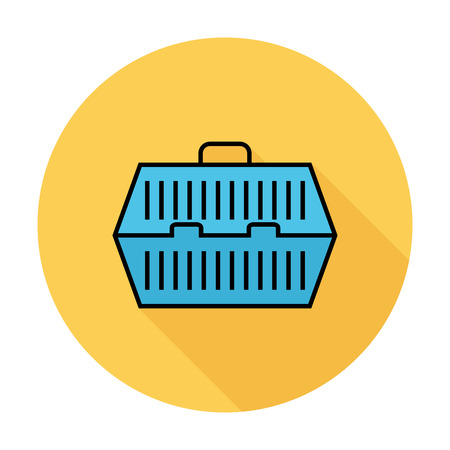 the carrier: Pet carrier icon.  Illustration