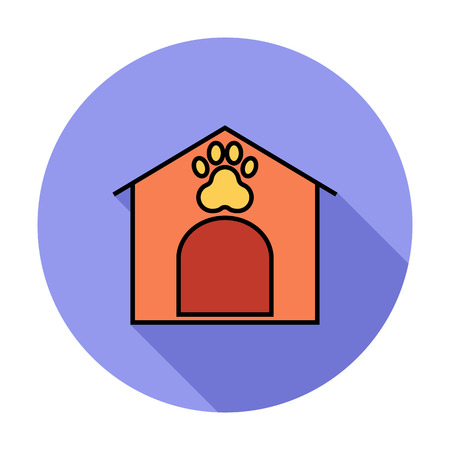 kennel: Kennel icon Line flat related icon for web and mobile applications. Illustration