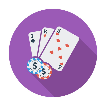 wager: Baccarat. Flat vector icon for mobile and web applications. Vector illustration.