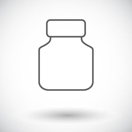 preserves: Jar. Solo icono de plano sobre fondo blanco. Ilustraci�n del vector.