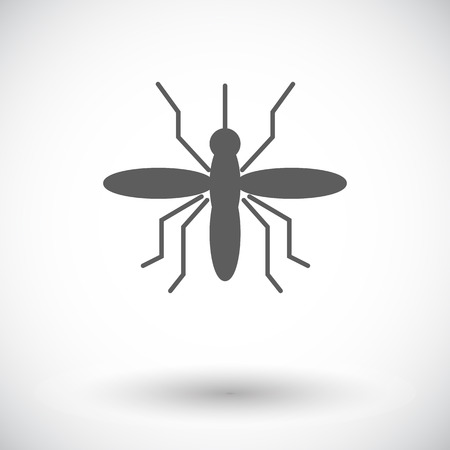suck: Mosquito. Single flat icon on white background. Vector illustration.