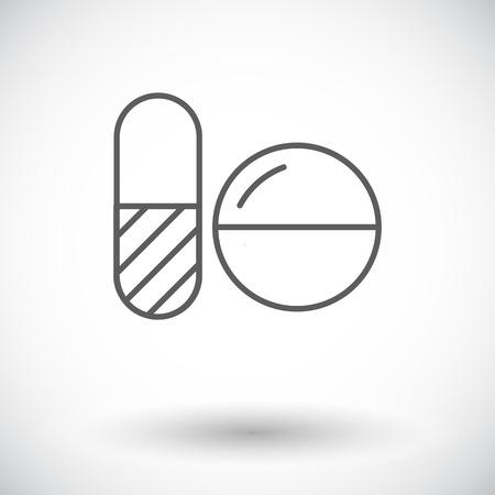 contraceptive: Contraceptive pills. Single flat icon on white background. Vector illustration.
