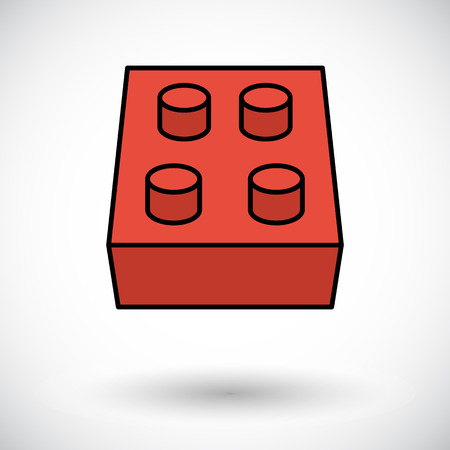 brick house: Building block icon. Flat vector related icon for web and mobile applications.