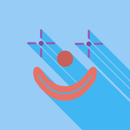 payaso: Icono de payaso. Vector plana icono relacionado con la larga sombra para web y aplicaciones m�viles. Vectores