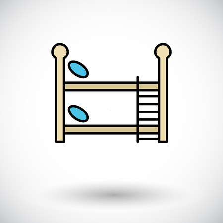bunkbed: Bunk bed icon. Flat vector related icon for web and mobile applications. Illustration