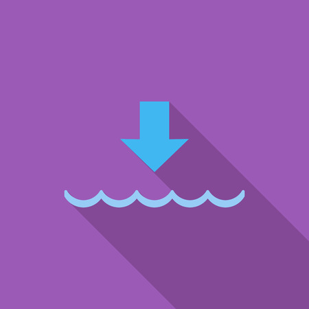 water's: Edd icon. Flat vector related icon with long shadow for web and mobile applications. It can be used as - logo, pictogram, icon, infographic element. Vector Illustration.