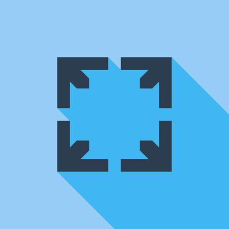 film: Deploying video icon. Flat vector related icon with long shadow for web and mobile applications.  Illustration