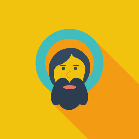 god icon: God icon. Flat vector related icon with long shadow for web and mobile applications.