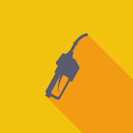 refueling: Refueling nozzle icon. Flat vector related icon with long shadow for web and mobile applications