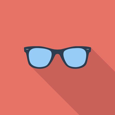 gafas de sol: Gafas de sol icono. Vector plana icono relacionado con la larga sombra para web y aplicaciones móviles.