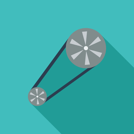 timing belt: Timing belt icon. Flat vector related icon with long shadow for web and mobile applications.  Illustration