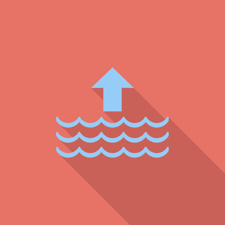 high sea: Edd icon. Flat vector related icon with long shadow for web and mobile applications.