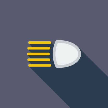 headlight: Headlight icon. Flat vector related icon with long shadow for web and mobile applications.