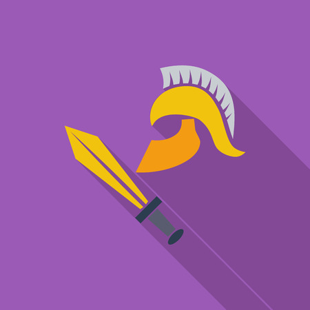 ancient civilization: History icon. Flat vector related icon with long shadow for web and mobile applications. Illustration