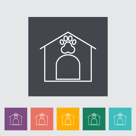 kennel: Kennel icon. Line flat vector related icon for web and mobile applications. Illustration