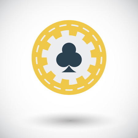 pursuit: Gambling chips icon. Flat vector related icon for web and mobile applications. It can be used as -   pictogram, icon, infographic element. Vector Illustration.