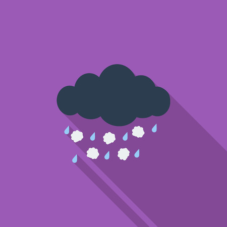 hailstorm: Hagel icon. Flat vector related icon with long shadow for web and mobile applications. It can be used as  pictogram, icon, infographic element. Vector Illustration. Illustration