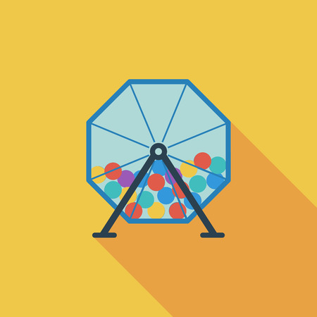 bingo: Lotteries icon. Flat vector related icon with long shadow for web and mobile applications. It can be used as  pictogram, icon, infographic element. Vector Illustration.