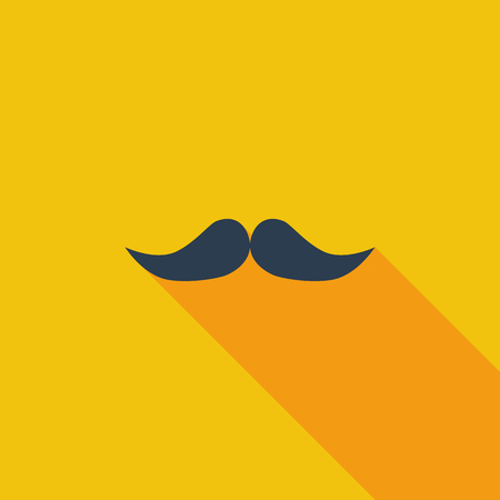 style goatee: Mustache icon. Flat vector related icon with long shadow for web and mobile applications. It can be used as   pictogram, icon, infographic element. Vector Illustration.