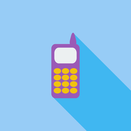 digitized: Phone icon. Flat vector related icon with long shadow for web and mobile applications. It can be used as pictogram, icon, infographic element. Vector Illustration. Illustration