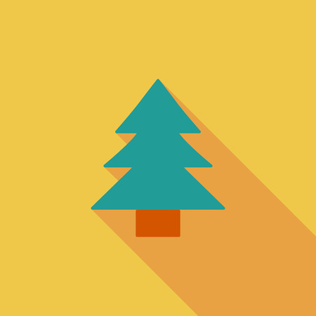 conifer: Conifer icon. Flat vector related icon with long shadow for web and mobile applications. It can be used as   pictogram, icon, infographic element. Vector Illustration.