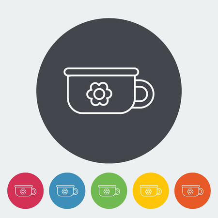 piddle: Potty icon. Thin line flat vector related icon for web and mobile applications. It can be used as  , pictogram, icon, infographic element. Vector Illustration. Illustration