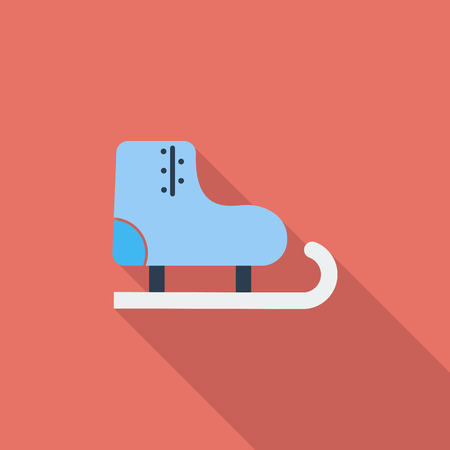 racing skates: Racing skates icon. Flat vector related icon with long shadow for web and mobile applications. It can be used as   pictogram, icon, infographic element. Vector Illustration. Illustration