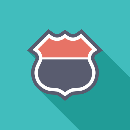highway signs: Road icon. Flat vector related icon with long shadow for web and mobile applications. It can be used as  pictogram, icon, infographic element. Vector Illustration.