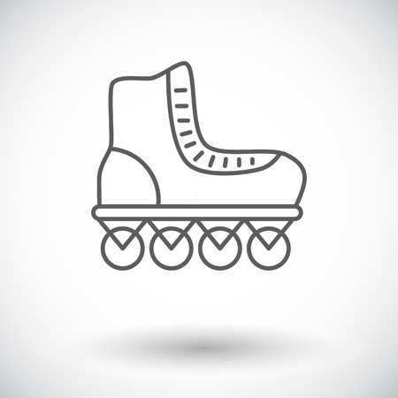 rollerskate: Roller skate icon. Thin line flat vector related icon for web and mobile applications. It can be used as   pictogram, icon, infographic element. Vector Illustration. Illustration