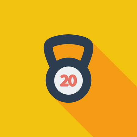 oversized: Sport weight icon. Flat vector related icon with long shadow for web and mobile applications. It can be used as - pictogram, icon, infographic element. Vector Illustration.