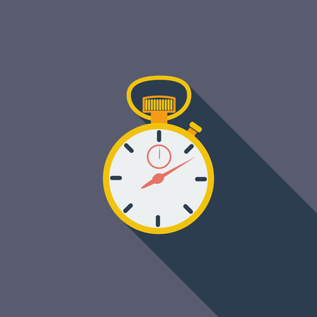 image icon: Stopwatch icon. Flat vector related icon with long shadow for web and mobile applications. It can be used as - pictogram, icon, infographic element. Vector Illustration.