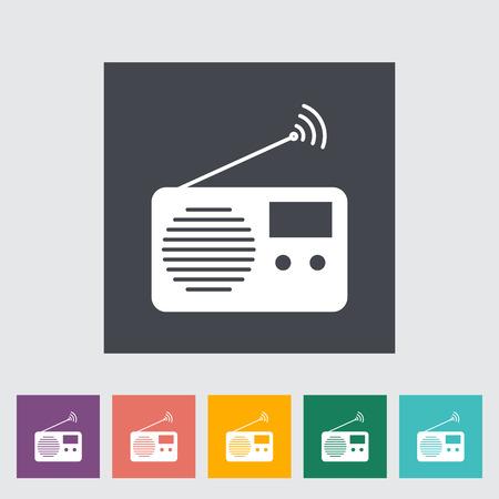 radio button: Radio. Single flat icon on the button. Vector illustration. Illustration